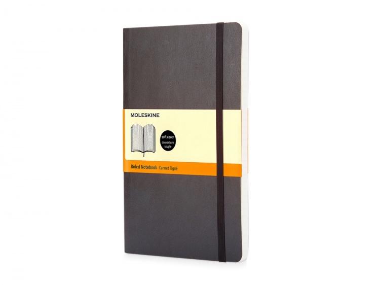 Записная книжка Moleskine Classic Soft (в линейку), Pocket (9х14 см), черный