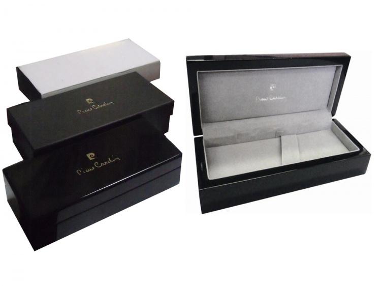 Ручка перьевая Pierre Cardin THE ONE с колпачком на резьбе, черненая сталь/темно-серый
