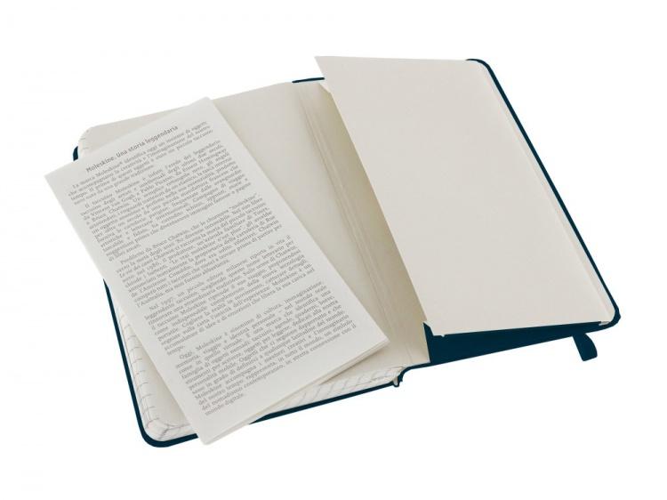 Записная книжка Moleskine Classic (в клетку), Pocket (9х14 см), голубой сапфир