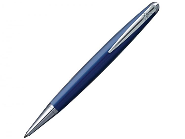 Ручка шариковая Pierre Cardin MAJESTIC с поворотным механизмом, синий/серебро