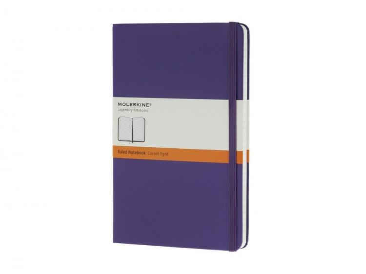 Записная книжка Moleskine Classic (в линейку) в твердой обложке, Large (13х21см), фиолетовый