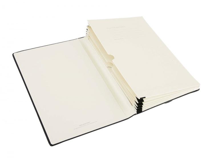 Папка-блокнот Moleskine Memo Pockets, Large (13x21см), черный