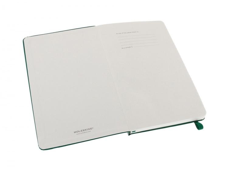 Записная книжка Moleskine Classic (в линейку) в твердой обложке, Large (13х21см), зеленый