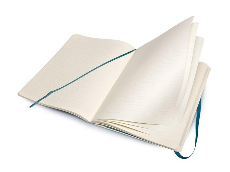 Записная книжка Moleskine Classic Soft (в линейку), Хlarge (19х25 см), бирюзовый