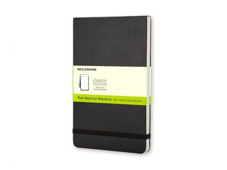Записная книжка Moleskine Reporter (нелинованный), Large (13х21см), черный