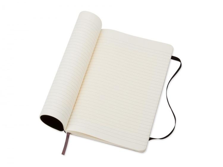 Записная книжка Moleskine Classic Soft (в линейку), Large (13х21см), черный