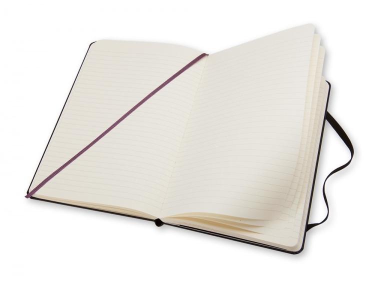 Записная книжка Moleskine Classic (в линейку) в твердой обложке, Large (13х21см), черный