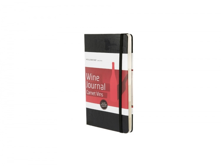Записная книжка Moleskine Passion Wine (Вина), Large (13x21см), черный