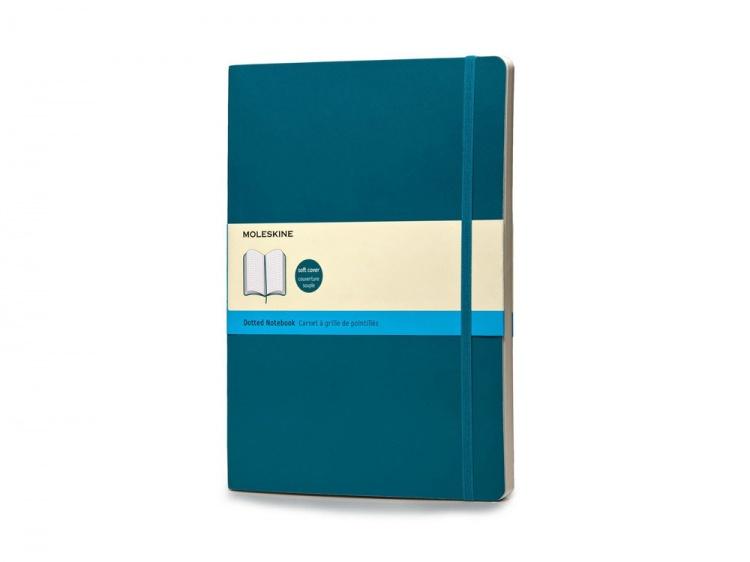 Записная книжка Moleskine Classic Soft (в точку), Хlarge (19х25 см), бирюзовый