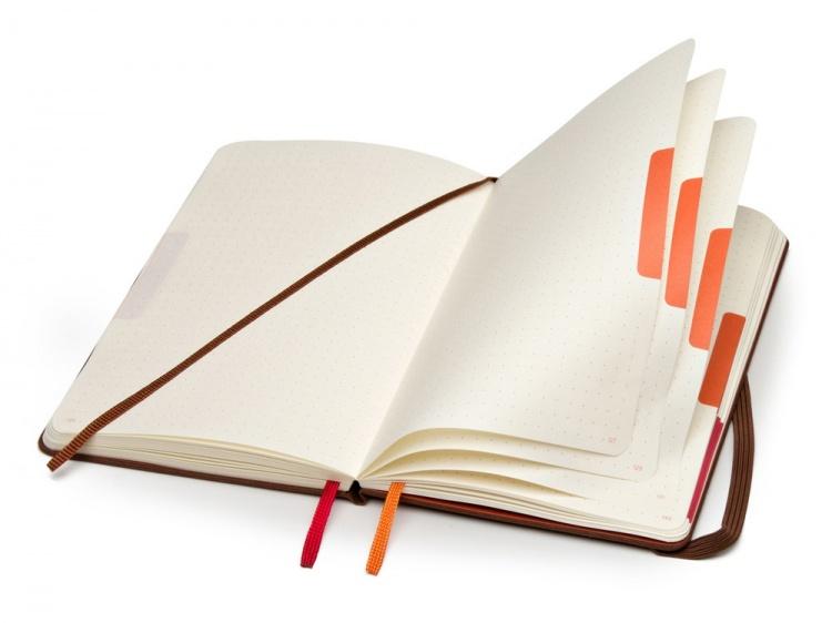 Записная книжка Moleskine Voyageur, (11.8 x 18.2см), коричневый