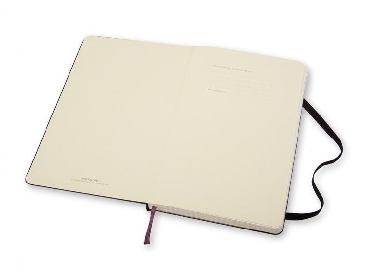 Записная книжка Moleskine Classic (в клетку) в твердой обложке, Large (13х21см), черный