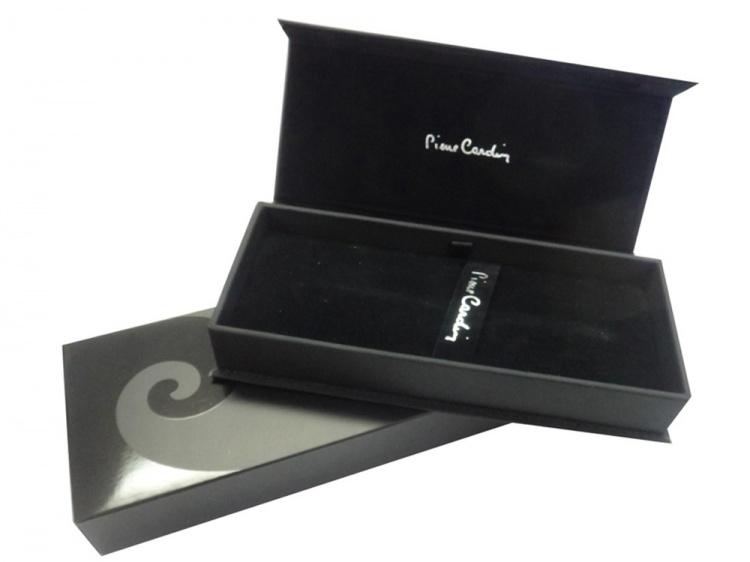 Ручка шариковая Pierre Cardin MAJESTIC с поворотным механизмом, синий/черный/серебро