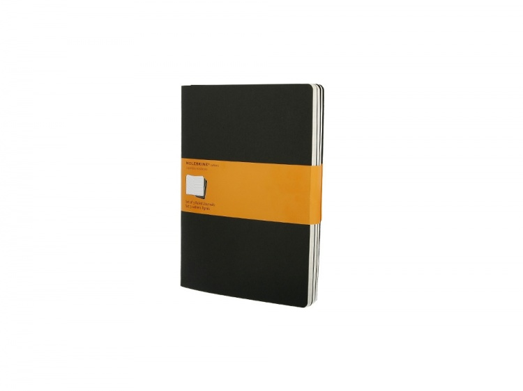 Записная книжка Moleskine Cahier (в линейку, 3 шт.), ХLarge (19х25см), черный