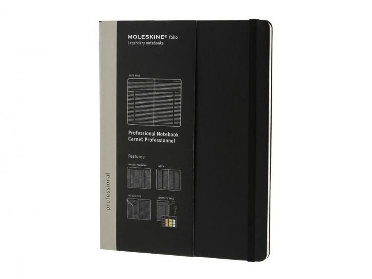 Записная книжка Moleskine Professional, XLarge (19х25см), черный