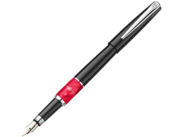 Ручка перьевая Pierre Cardin LIBRA с колпачком, черный/красный/серебро