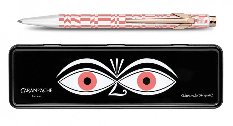 Шариковая ручка Carandache Office 849 Alexander Girard Pink Check Stripes