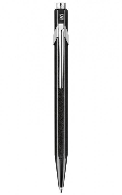 Ручка шариковая Carandache Office Popline Metal-X  Black Metallic M синие чернила подар.кор