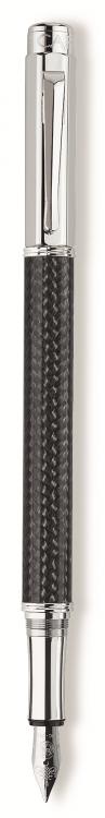 Ручка перьевая Carandache Varius Carbon 3000 SP  F золото 18K с родиевым покрытием подар.к