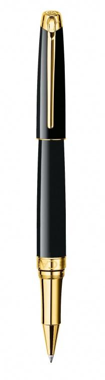 Ручка роллер Carandache Leman Ebony  black lacquered GP подар.кор.
