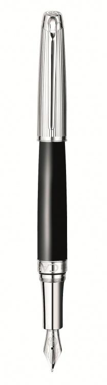 Ручка перьевая Carandache Leman  Bicolor Black SP F золото 18K подар.кор.
