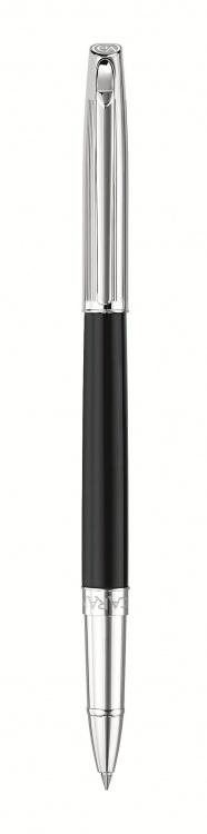 Ручка роллер Carandache Madison Bicolor Black SP  латунь посеребрение с родиевым напыление