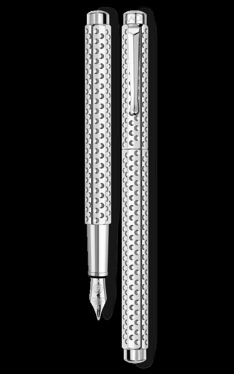 Ручка перьевая Carandache Ecridor Golf PP  F сталь родированная подар.кор.
