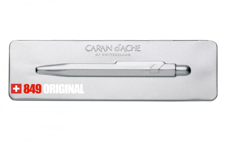 Ручка шариковая Carandache Office Original  M синие чернила подар.кор.