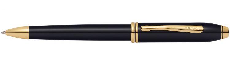 Шариковая ручка Cross Townsend. Цвет - черный.