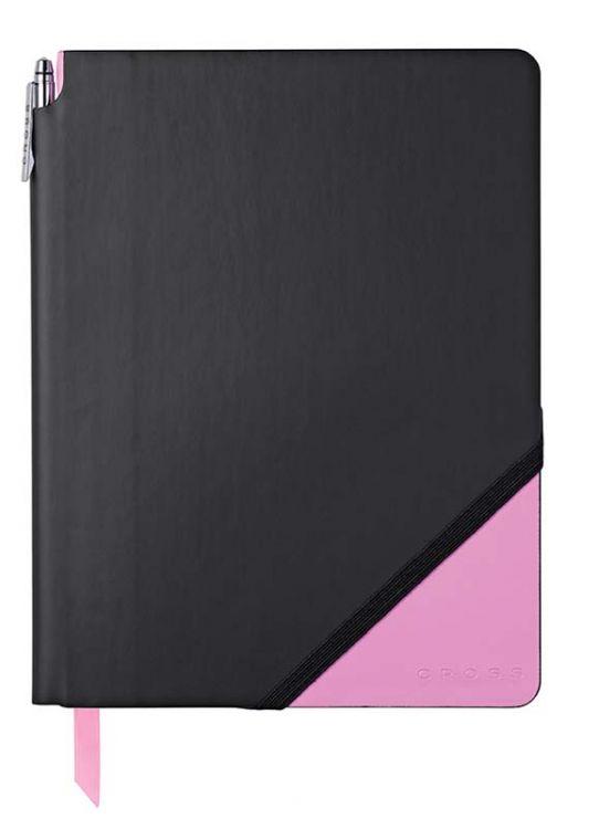 Записная книжка Cross Jot Zone, A4, 160 стр, ручка в комплекте. Цвет - черно-розовый