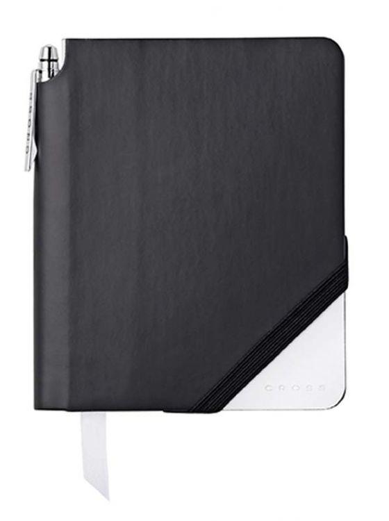 Записная книжка Cross Jot Zone, A6,  160 страниц в линейку, ручка в комплекте. Цвет - черно-белый