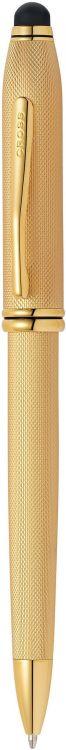 Шариковая ручка Cross Townsend Stilus со стилусом 8мм. Цвет - золотистый.