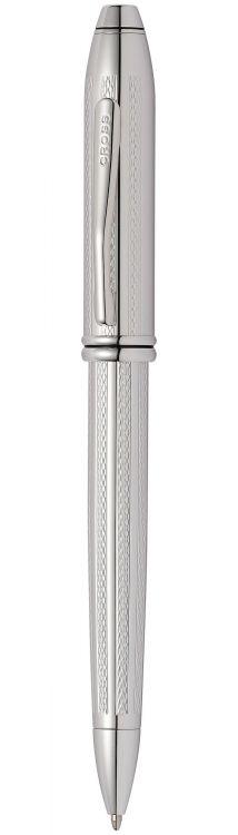 Шариковая ручка Cross Townsend. Цвет - платиновый.