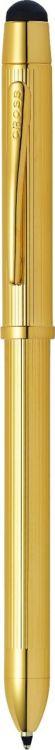 Многофункциональная ручка Cross Tech3+. Цвет - золотистый.
