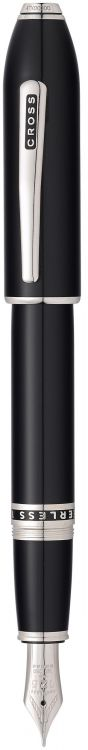 Перьевая ручка Cross Peerless 125. Цвет - черный/платина