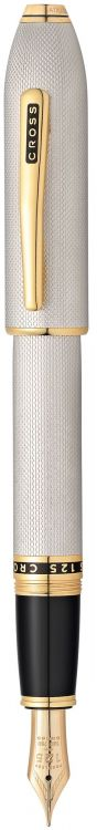 Перьевая ручка Cross Peerless 125. Цвет - платиновый/позолота, перо - золото 18К/родий