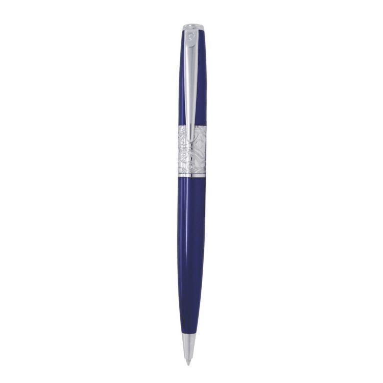 Ручка шариковая Pierre Cardin BARON, цвет - синий металлик. Упаковка В.