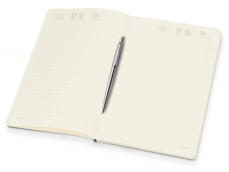 Подарочный набор: Шариковая ручка Parker Jotter Essential, St. Steel СT и Ежедневник недатированный серебристый