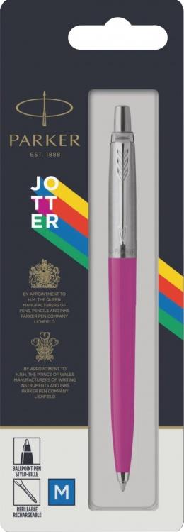 Подарочный набор: Шариковая ручка Parker Jotter ORIGINALS MAGENTA УПАКОВКА БЛИСТЕР и ежедневник недатированный малиновый