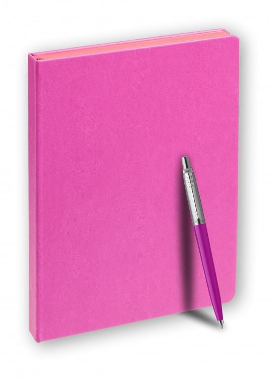 Подарочный набор: Шариковая ручка Parker Jotter ORIGINALS MAGENTA УПАКОВКА БЛИСТЕР и Ежедневник недатированный розовый