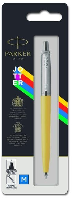 Подарочный набор: Шариковая ручка Parker Jotter ORIGINALS YELLOW CT  В БЛИСТЕРЕ и ежедневник недатированный желтого цвета