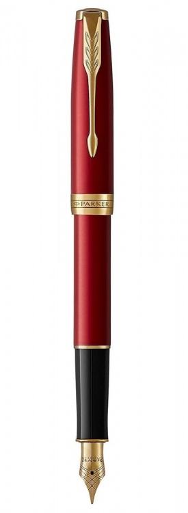 Перьевая ручка Parker Sonnet Red GT Intense, перо F в подарочной коробке