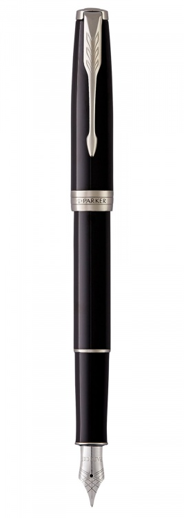 Перьевая ручка Parker Sonnet F539, цвет: LaqBlack СT, перо: F (стальное)