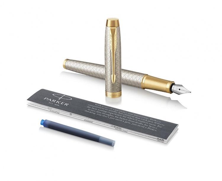 Перьевая ручка Parker IM Premium Warm Silver (grey)  GT