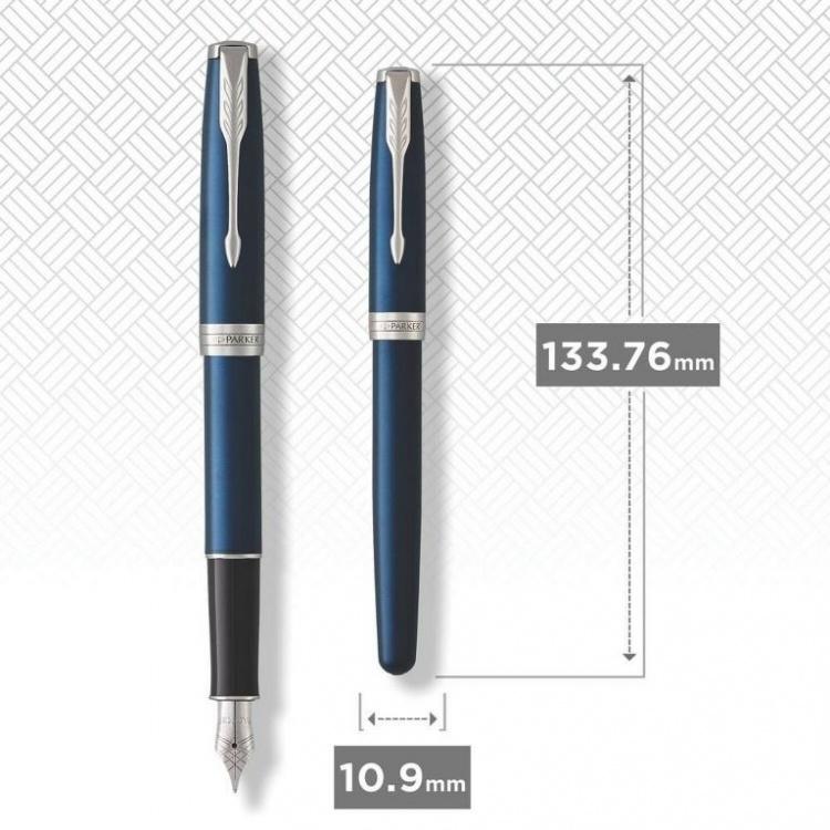 Перьевая ручка Parker Sonnet Blue Subtle F