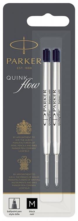 Стержни для шариковой ручки 2шт. Цвет черный , толщина линии М, в блистере. Франция