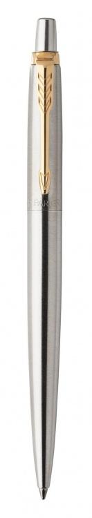 Подарочный набор: Шариковая ручка Parker Jotter Essential, St. Steel GT и Ежедневник недатированный серебристый