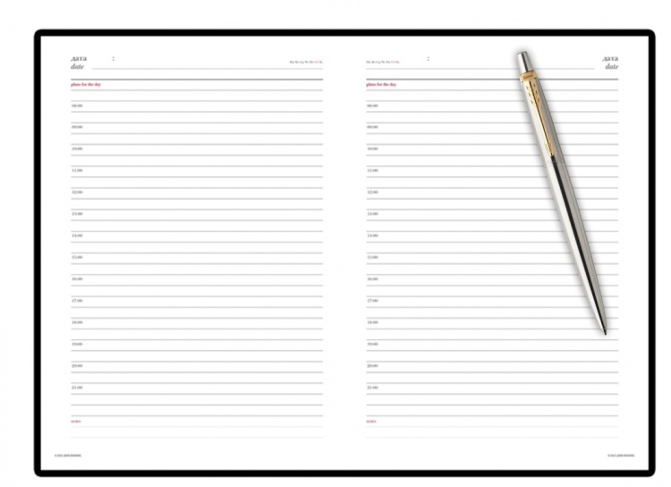 Подарочный набор: Ежедневник  и Шариковая ручка Parker Jotter Essential, St. Steel GT