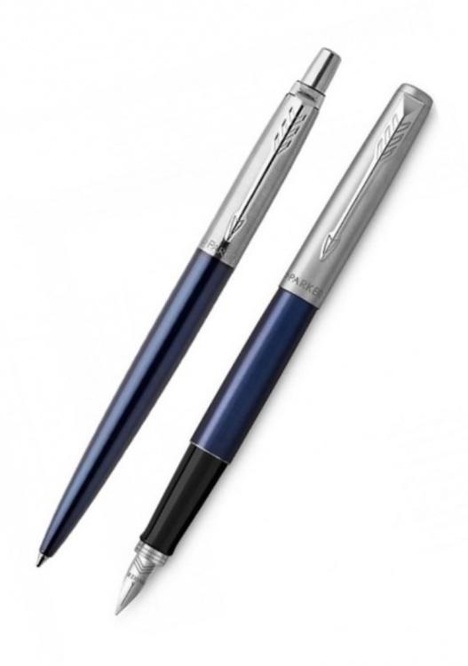 Подарочный набор: Перьевая и Шариковая ручки Parker Jotter Royal Blue CT