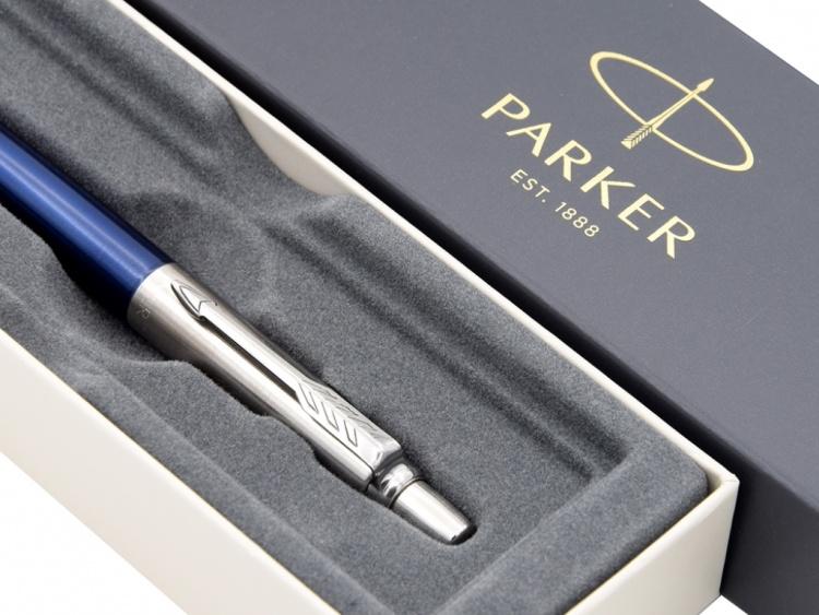 Шариковая ручка Parker Jotter Essential, Royal Blue CT, стержень: Mblue