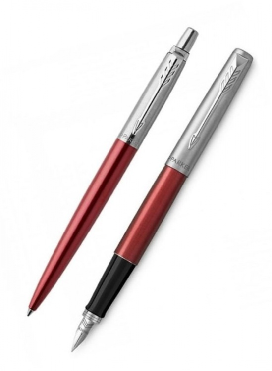 Подарочный набор: Перьевая и Шариковая ручки Parker Jotter Kensington Red CT